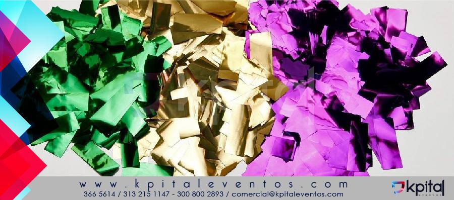 Venta de papel metalizado para Ventury o cañón de confetis Bogotá Colombia