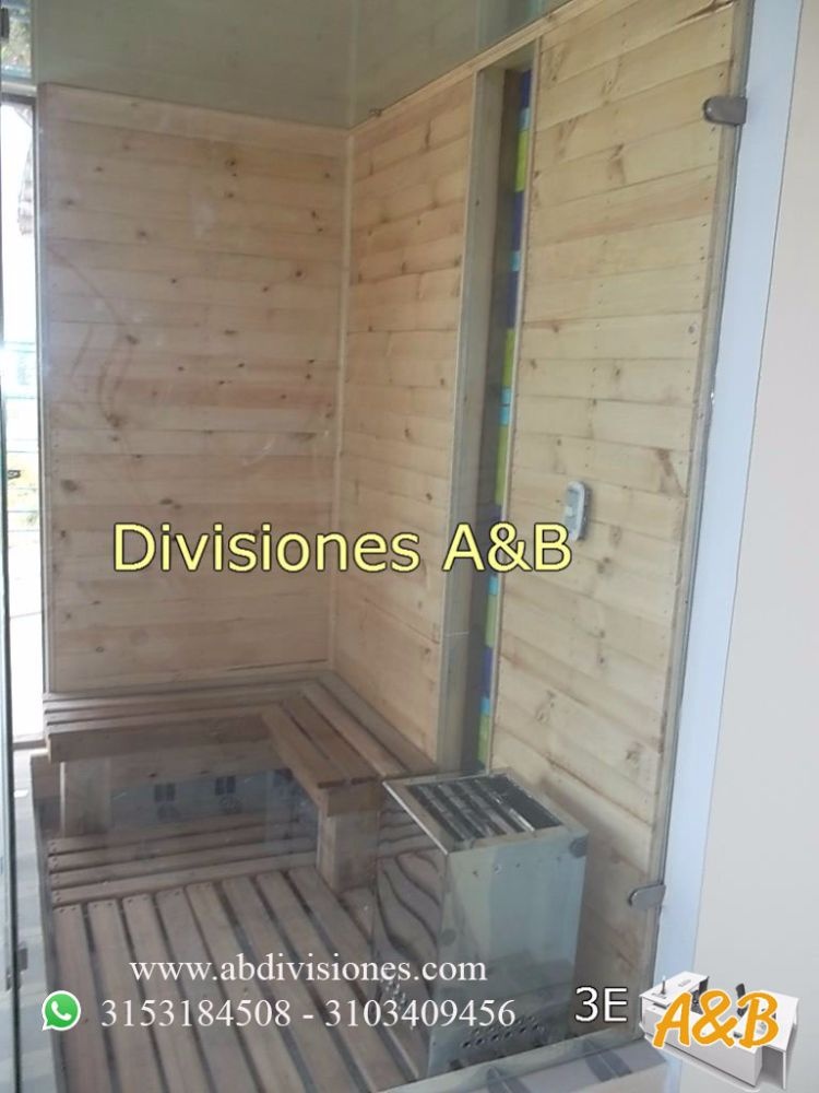 sauna en vidrio