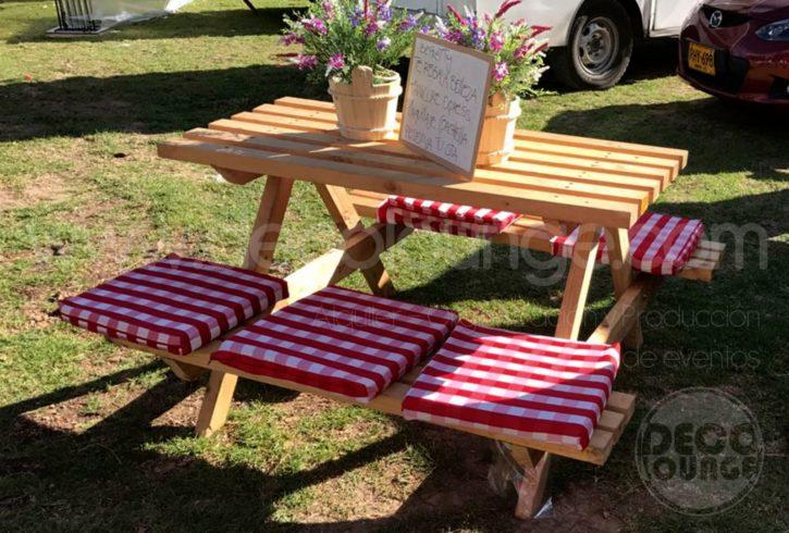 mesas picnic en bogota
