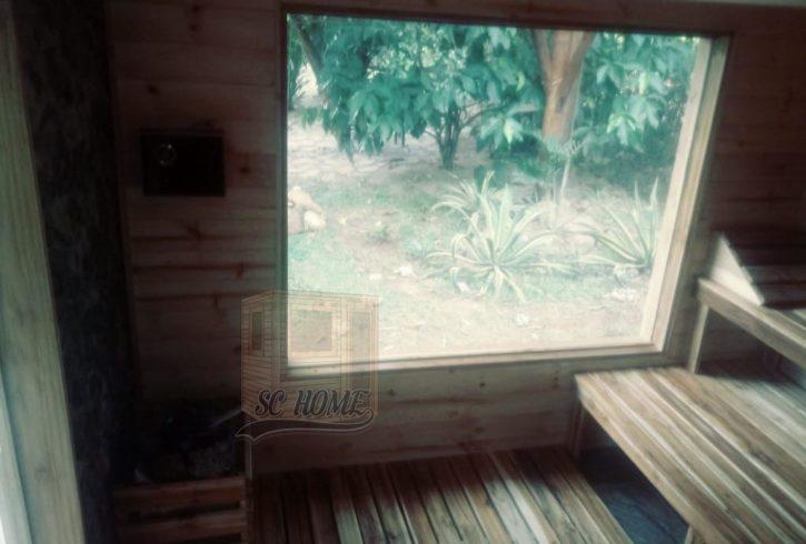 sauna para finca
