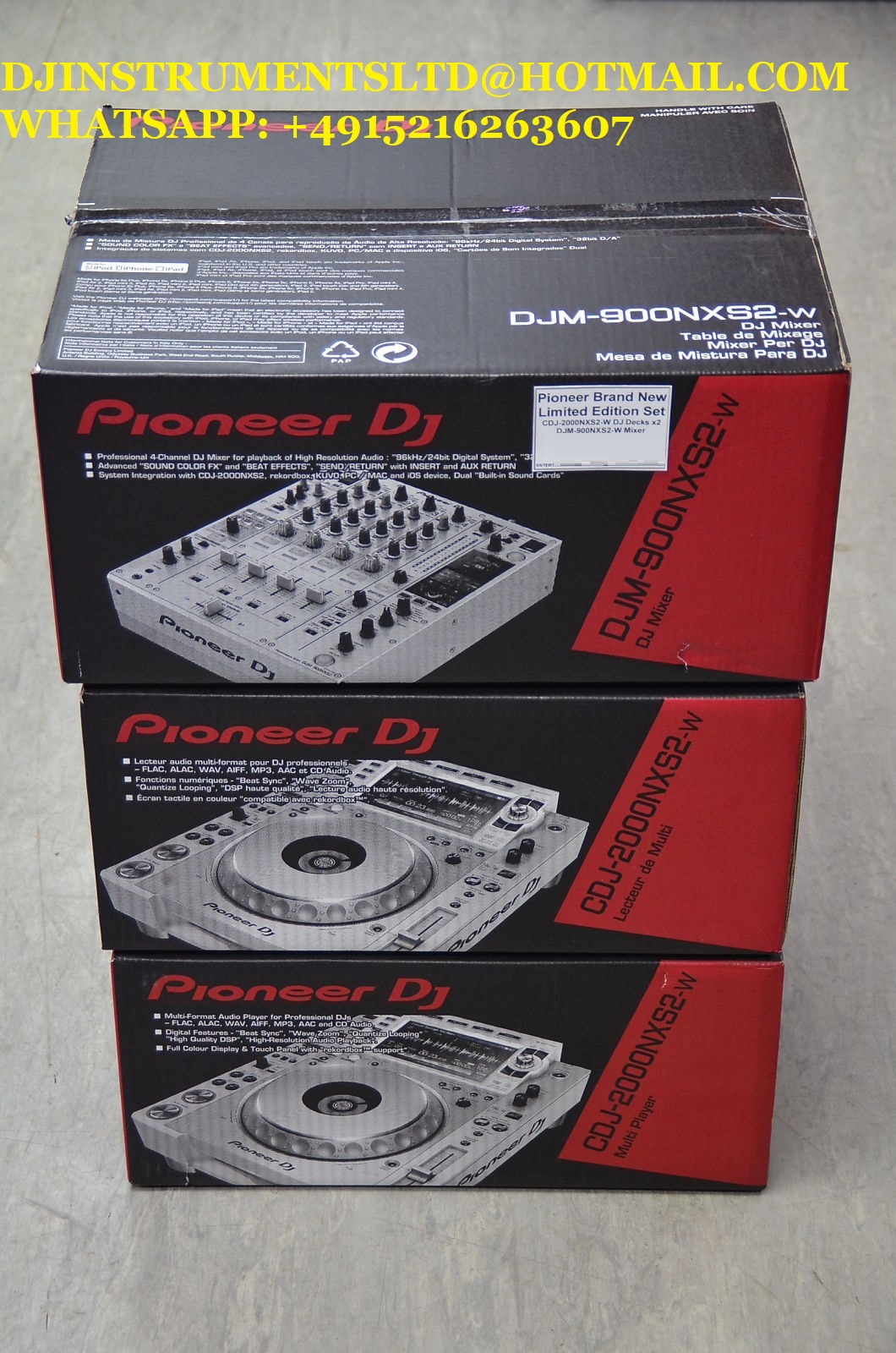 Pioneer CDJ-2000NXS2-W & DJM-900NXS2-W Limited Edition DJ Set Boxed edit musicshop